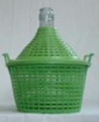 Бутыль-демиджон с пластиковой крышкой, Итальянское стекло. Объем - 10 литров
