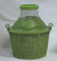 Бутыль-демиджон с широким горлышком и пластиковой крышкой Итальянское стекло. Объем - 5 литров