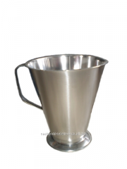 The beaker is gradiurovanny, conic, stainless