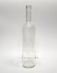 Бутылка винная 0,75 л. прозрачная