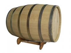 Бочка дубовая 500 литров, обруч нерж.сталь