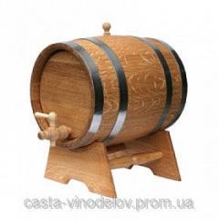 Barrel of oak 10 liters, hoop stainless steel