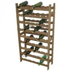"Rack for bottles of ""Kantinett"", wooden, on the 54th quarrystone."