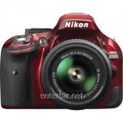Nikon D5200 SLR camera + 18-55mm VR II Red KIT