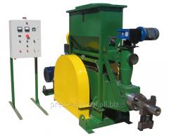 Briquette press shock-mechanical