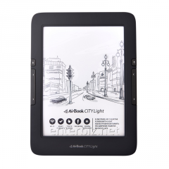 AirBook City Light Touch Black e-book + cover /