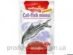 Корм для рыб Аквариус Меню для сомов 10 г