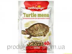 Корм для рыб Аквариус Меню для черепах 10 г