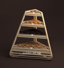 Bread rack corner with sloping shelves Brioche
