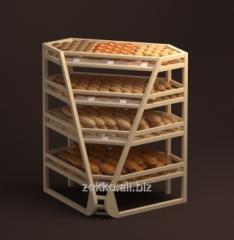 Prateleiras de pão