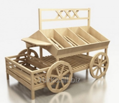 The cart island for vegetables and fruit with the