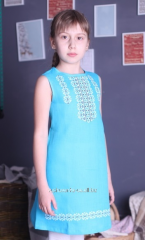 Children dress embroidered
