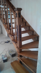 Exclusive stairs for the house, with wood