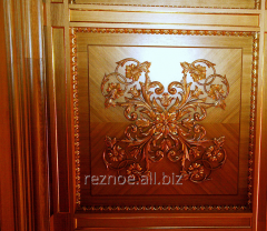 Decorative panels from a tree on walls
