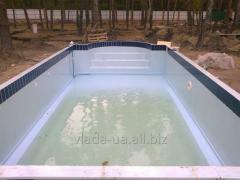 Pools from stainless steel with PVC covering