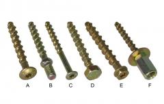 Anchor screws for concrete