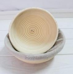 Form basket for a rasstoyka of bread from a rod