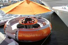 Лодка cо встроенным грилем BBQ-donut
