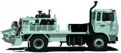 Бетононасос на платформе грузовика модель Т70SS.