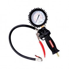 The gun for pumping of tires with the manometer