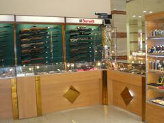 The trade equipment, trade show-windows under the