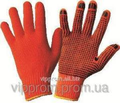Gloves working HB orange, 12 couples / unitary