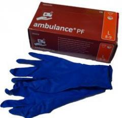 Medical gloves blue-solid S, M, L, XL, 50/Pack, 10 packs/box, code 1135