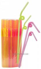 Tubules for cocktail Freestyle fluorescent, 100pcs./Pack, 70up/box, code 1745