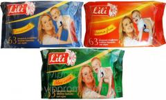 Children's wet towel wipes of Lily, 63rd piece/unitary enterprise., 27 up./box, code 1974
