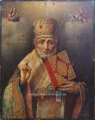 Святой Николай чудотворец старинная икона