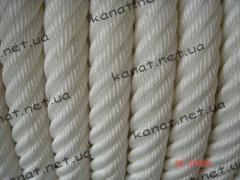Rope polyamide kapron hummock twist GOST 30055-93