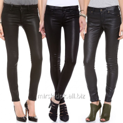 Black brenovy leather jeans for women of LAURA
