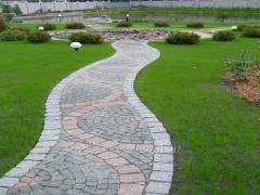 The stone blocks is granite chipped