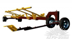 The cart for transportation of harvesters of