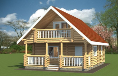 Дом со сруба Дуброва 120 м.кв