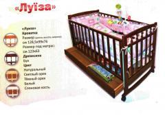 """Кроватка детская деревянная """"Луиза"""""""