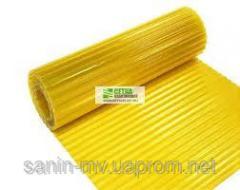 Plastic slate volnoplast yellow
