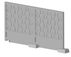 Плиты бетонные, заборы бетонные, плиты заборные