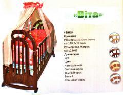 """Кроватка детская деревянная """"Вита"""""""