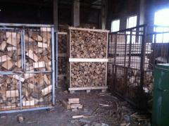 Firewood chipped (oak, birch, ash-tree, alder,