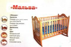 """Кроватка детская деревянная """"Мальва"""""""