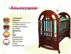"""Кроватка детская деревянная """"Аленушка"""""""