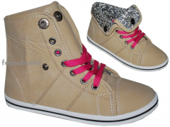 Beige children's shoes izabella Art model: