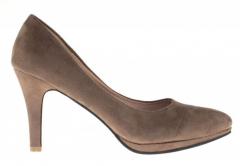 Beige-gray women's shoes kebir Art model: