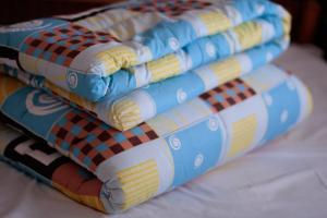 Стеганое одеяло из овечьей шерсти. Односпальное
