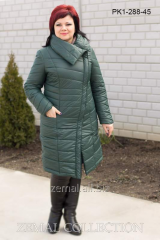 Coat quilted PK1-288, winter on synthetic
