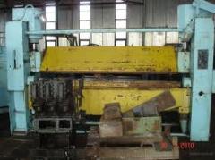 Press listogibochny IV2144, hydraulic with a
