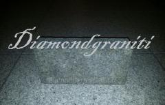 The granite stone blocks thermoprocessed