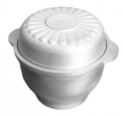 Cauldron of kitchen and oven 0,5 l of rounded