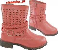 Crimson-beige children's boots sicaminò Art